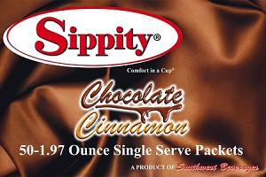 Sippity Chocolate Cinnamon Hot Chocolate Mix<br/>Box of 50-1.97 oz Single Serve Packets