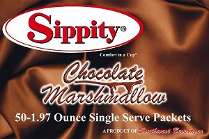 Sippity Chocolate Marshmallow Hot Chocolate Mix<br/>Box of 50-1.97 oz Single Serve Packets