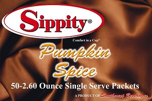 Sippity Pumpkin Spice Hot Chocolate Mix<br/>Box of 50-2.60 oz Single Serve Packets