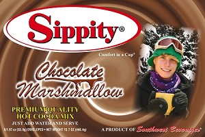 Sippity Chocolate Marshmallow Hot Chocolate Mix<br/>Box of 8-1.97 oz Single Serve Envelopes