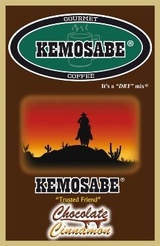 Kemosabe Chocolate Cinnamon Gourmet Flavored Coffee<br/>1-0.90 Oz. Single Serve Envelope