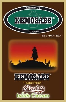 Kemosabe Chocolate Irish Cream Gourmet Flavored Coffee<br/>1-0.90 Oz. Single Serve Envelope