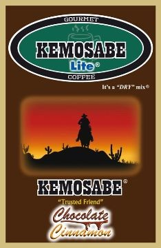 Kemosabe Lite Chocolate Cinnamon Gourmet Flavored Coffee<br/>1-0.65 Oz. Single Serve Envelope