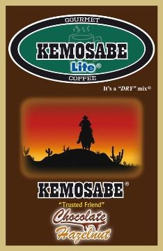 Kemosabe Lite Chocolate Hazelnut Gourmet Flavored Coffee<br/>1-0.65 Oz. Single Serve Envelope