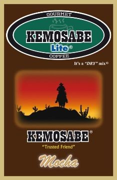 Kemosabe Lite Mocha Gourmet Flavored Coffee<br/>1-0.65 Oz. Single Serve Envelope