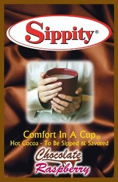 Sippity Chocolate Raspberry Hot Chocolate Mix<br/>1 Single Serve Envelope-1.97 oz.