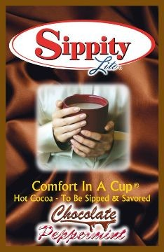 Sippity Lite Chocolate Peppermint Hot Chocolate Mix<br/>1 Single Serve Envelope-0.93 oz.